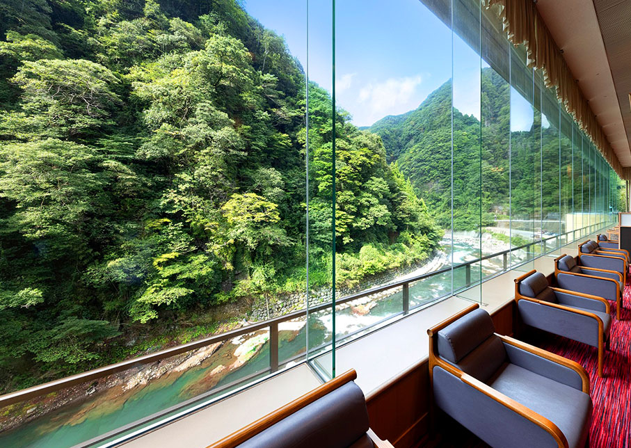 It is spa facility only for here in the whole country linking two prefectures to one