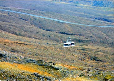 Aso mountaintop ropeway (the crater)