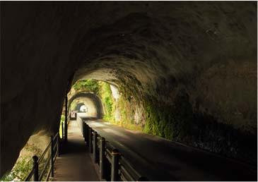Cave opening of Yaba-kei Gorge blue
